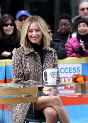 Ashley Tisdale - At the 'Access Live' show at the Rockefeller Plaza in NYC