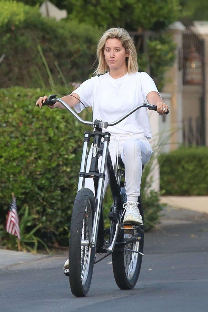 Ashley Tisdale - Bike Ride in Toluca Lake