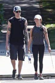 Ashley Tisdale - goes hiking with her husband in Los Angeles