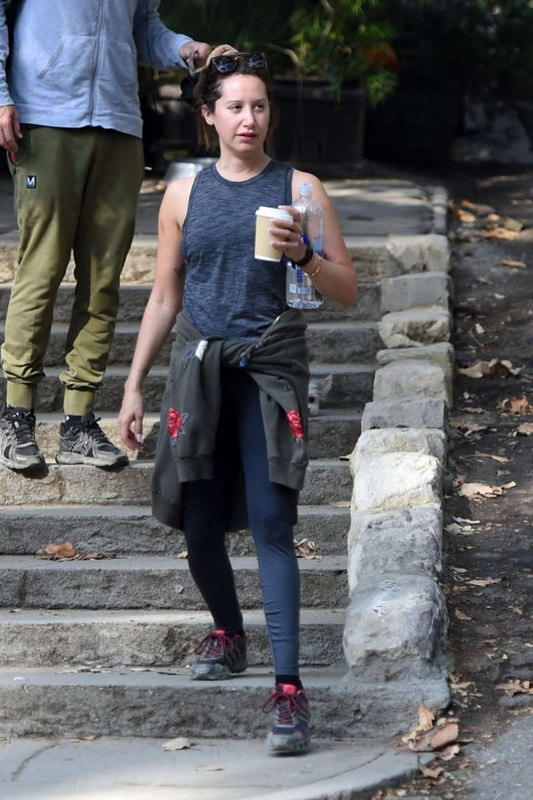 Ashley Tisdale - Heads out for a morning hike in LA