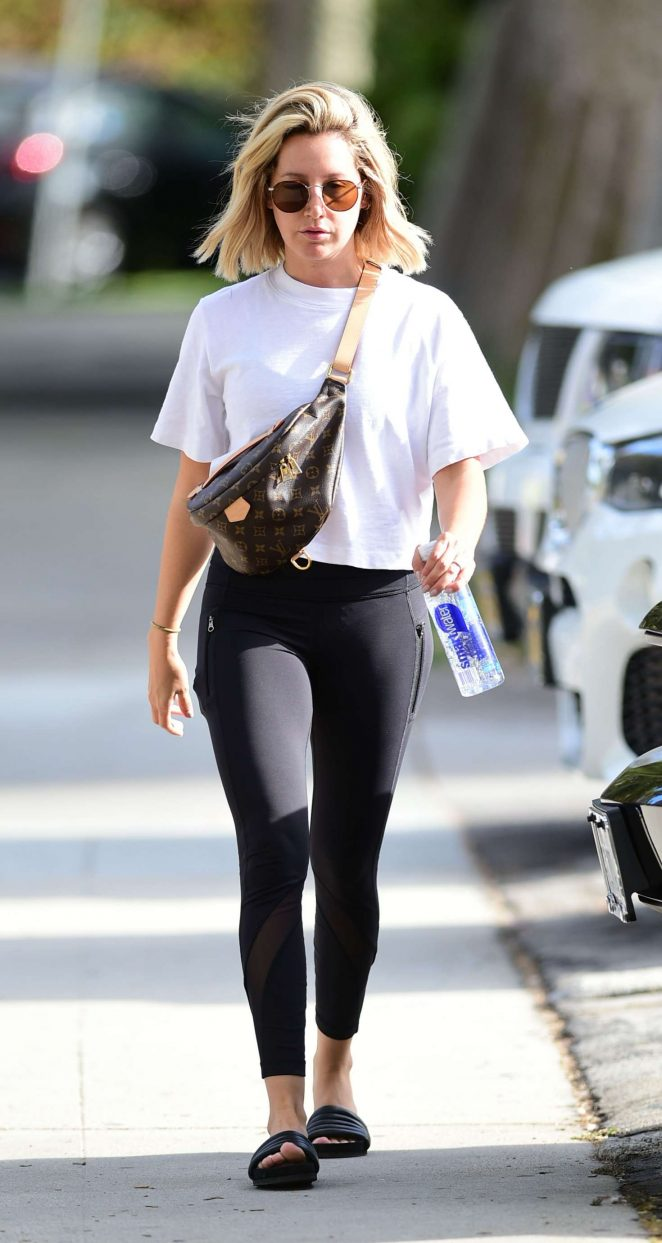 Ashley Tisdale - Heads to gym in Los Angeles