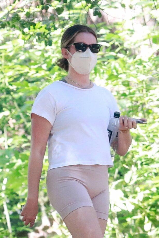 Ashley Tisdale - Hike candids at Griffith Park in Los Feliz