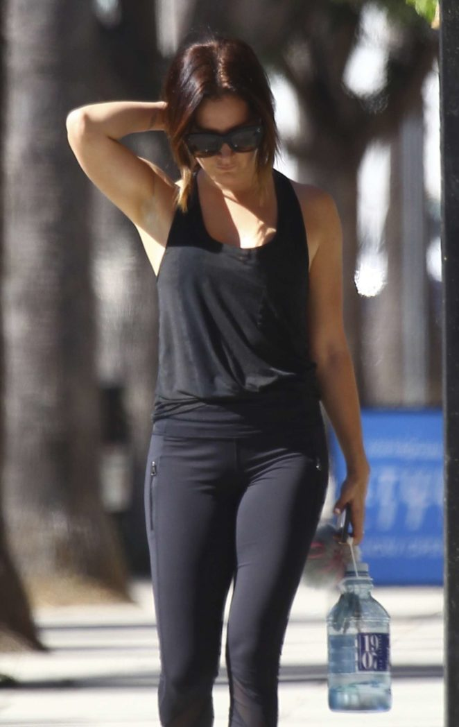 Ashley Tisdale - Hits the gym in Studio City