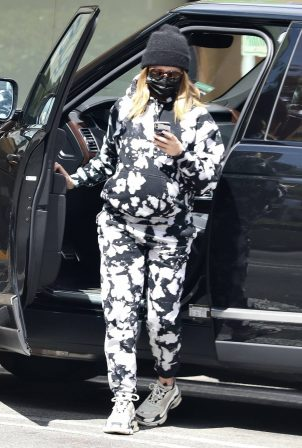Ashley Tisdale - In a tie-dye sweats seen after a Doctor's visit in Beverly Hills