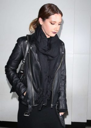 Ashley Tisdale in Black at Catch LA in West Hollywood