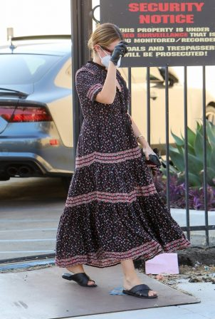 Ashley Tisdale - In dress arrives at a studio in Los Angeles