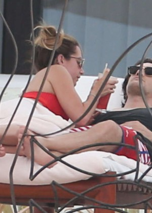 Ashley Tisdale in Red Bikini 2016 -11