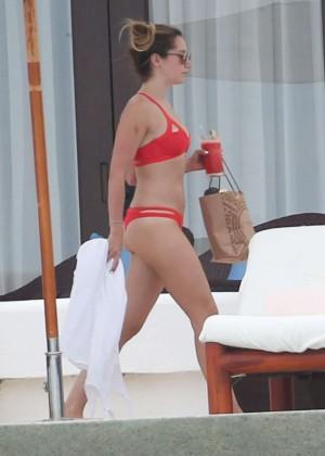 Ashley Tisdale in Red Bikini 2016 -15