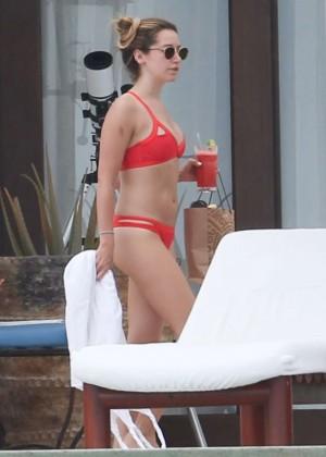 Ashley Tisdale in Red Bikini 2016 -18