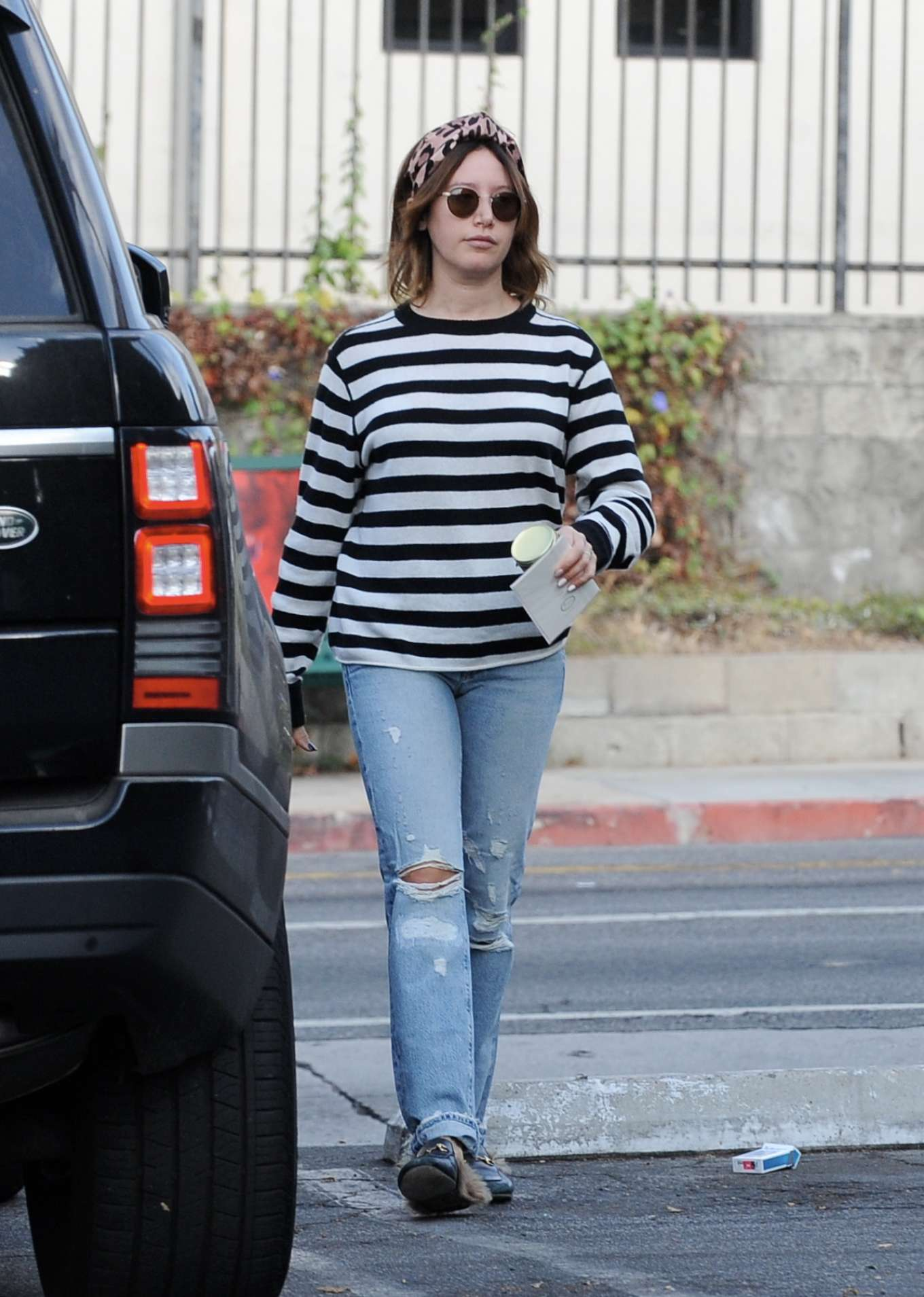 Ashley Tisdale in Ripped Jeans - Out in LA
