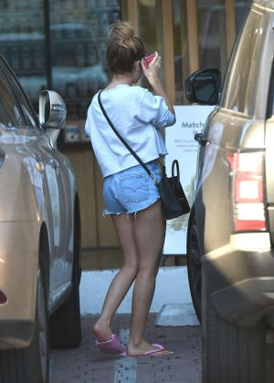 Ashley Tisdale in Shorts at The Skin Clinic in Los Angeles