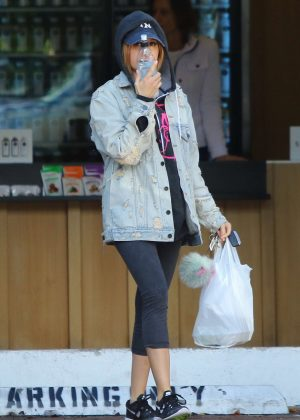 Ashley Tisdale - Leaves a Hair Salon in Studio City