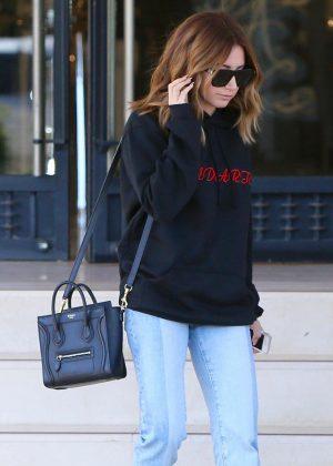 Ashley Tisdale Leaves Barneys New York in LA