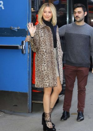 Ashley Tisdale - Leaves the 'Good Morning America' show in NYC