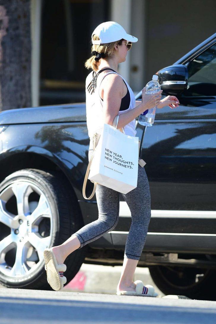 Ashley Tisdale - Leaves Yoga Studio in Studio City