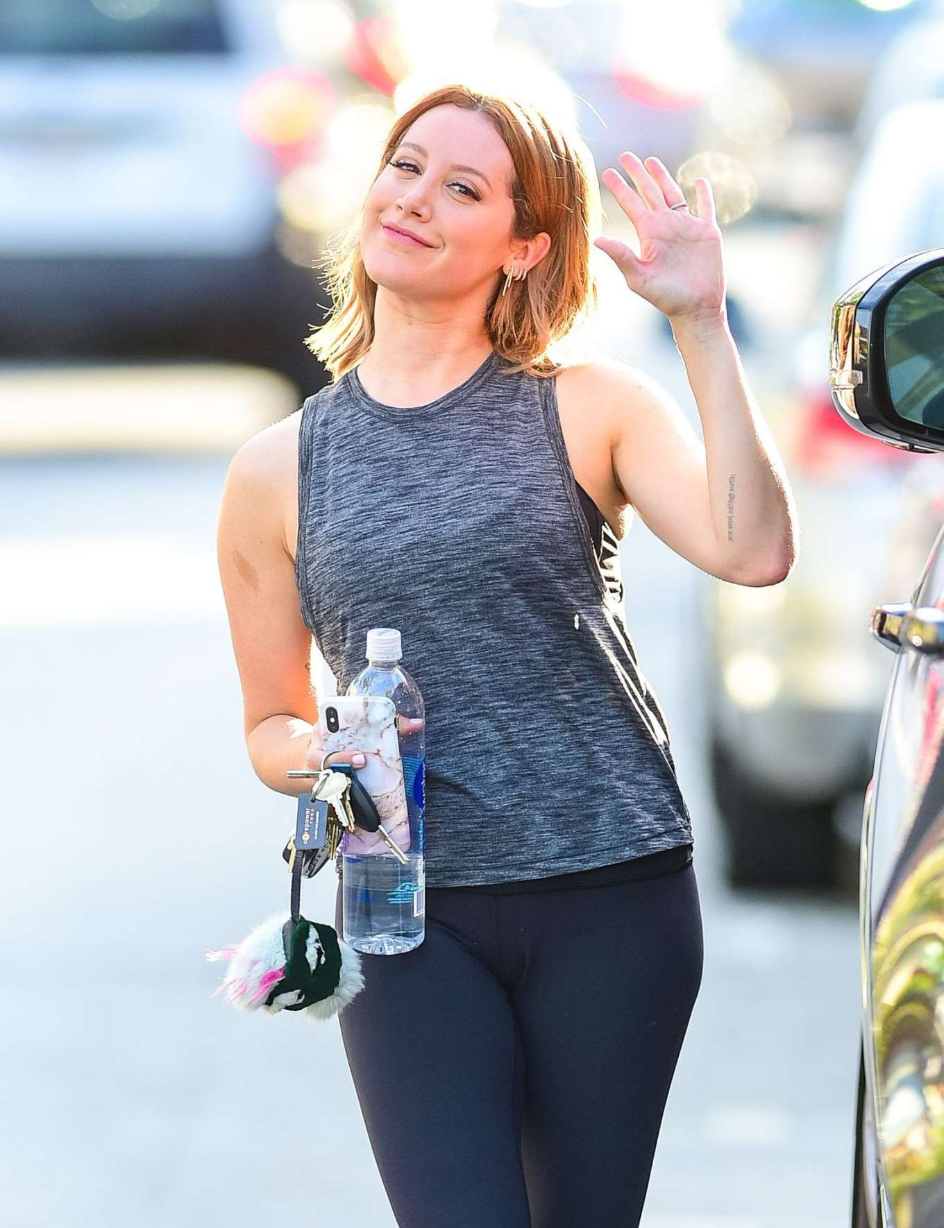 Ashley Tisdale 2019 : Ashley Tisdale: Leaving a gym in Studio City-03