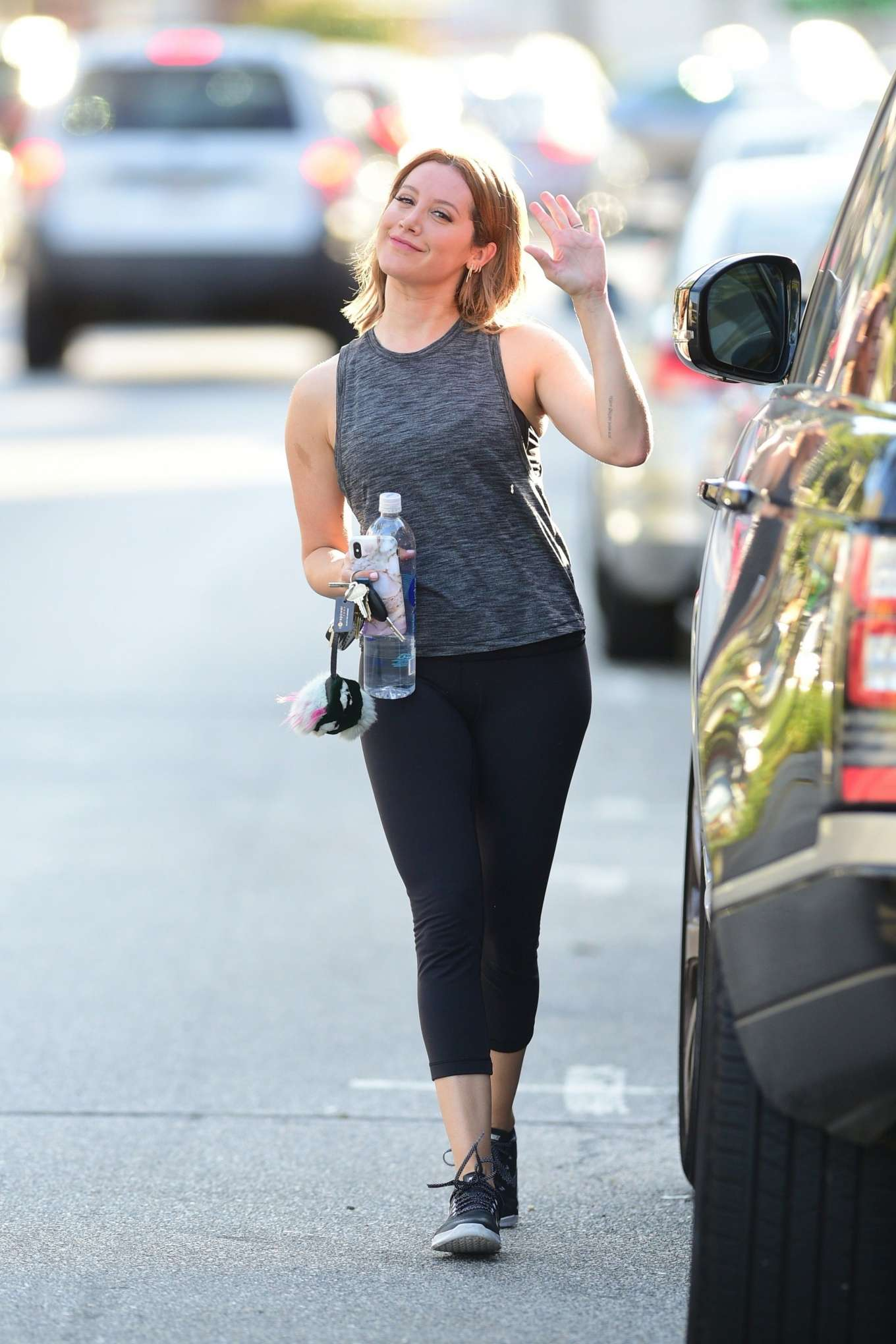 Ashley Tisdale 2019 : Ashley Tisdale: Leaving a gym in Studio City-05