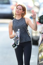 Ashley Tisdale - Leaving a gym in Studio City