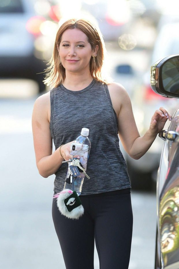 Ashley Tisdale: Leaving a gym in Studio City-11