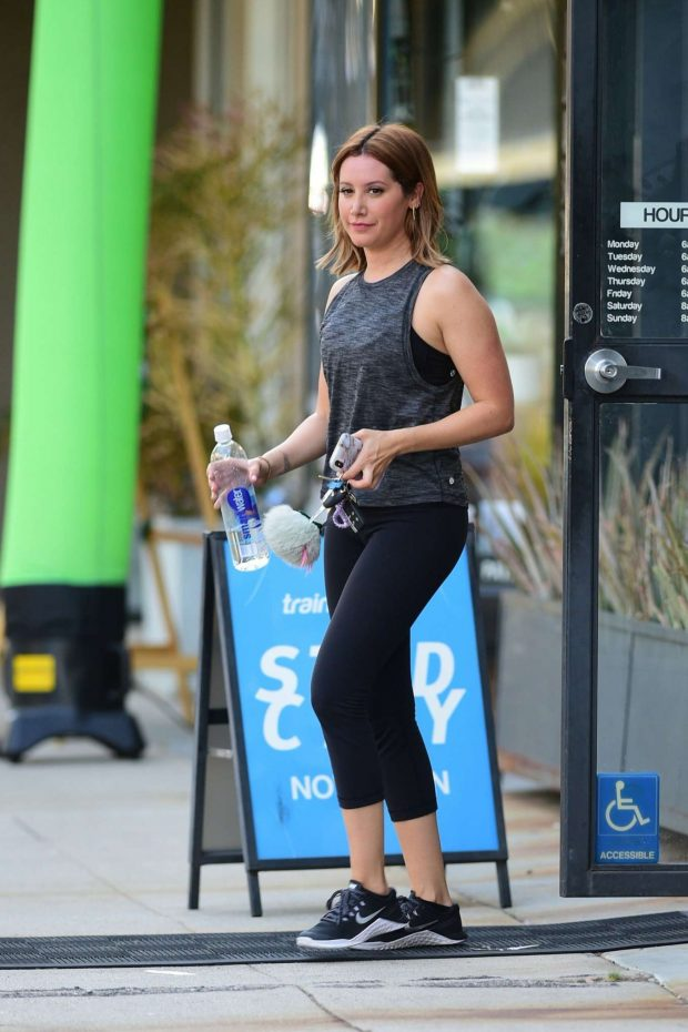 Ashley Tisdale: Leaving a gym in Studio City-16