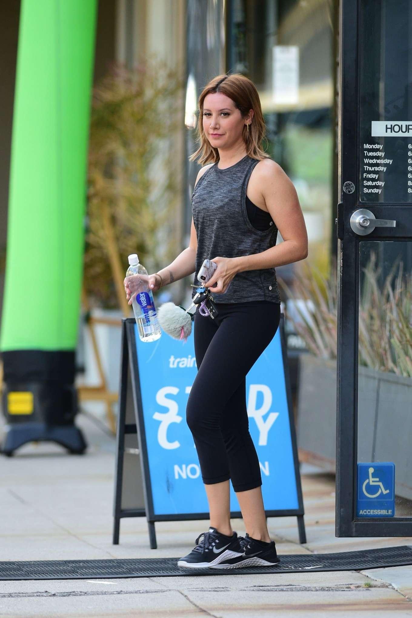 Ashley Tisdale 2019 : Ashley Tisdale: Leaving a gym in Studio City-16