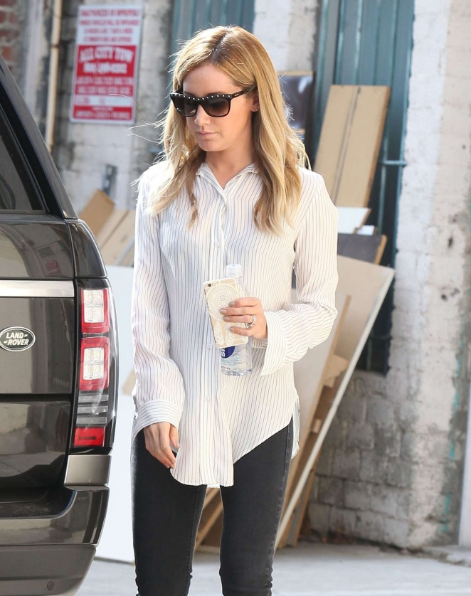 Ashley Tisdale - Leaving a Salon in LA