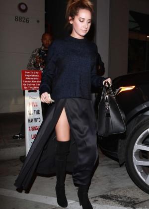 Ashley Tisdale Leaving Craig's Restaurant in LA