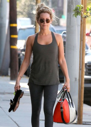 Ashley Tisdale - Leaving the gym in West Hollywood
