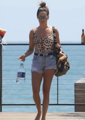 Ashley Tisdale - Leaving the SoHo house in Malibu