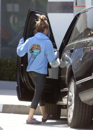 Ashley Tisdale Booty in Tights Out in LA