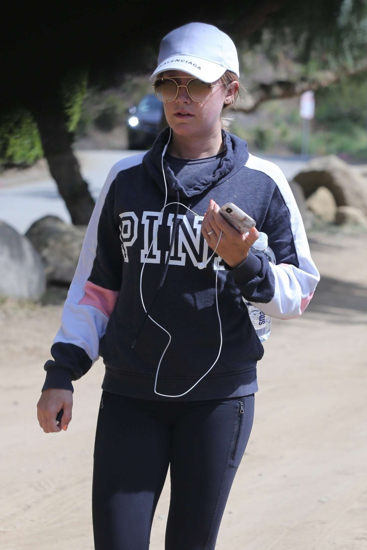 Ashley Tisdale - Out for a hike in Los Angeles