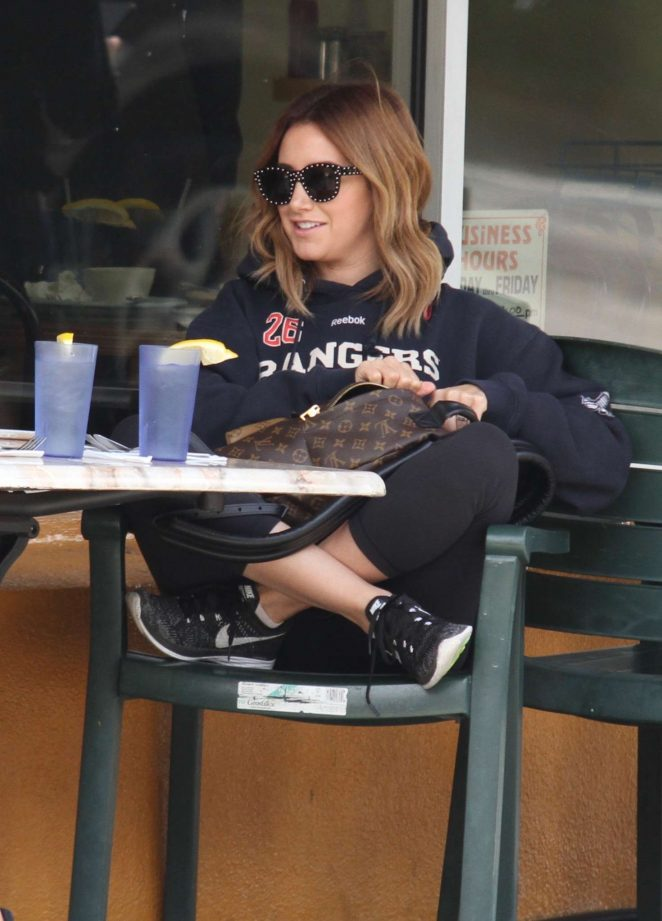 Ashley Tisdale - Out for breakfast in West Hollywood