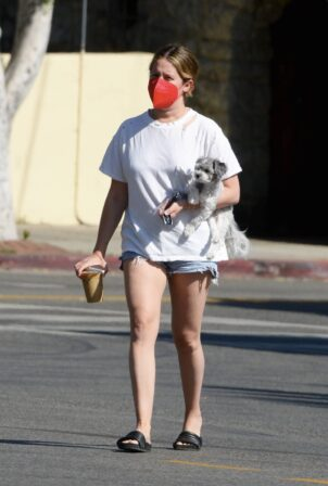 Ashley Tisdale - Out in Los Angeles with her little pooch