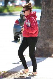 Ashley Tisdale - Outside Shape House in Studio City