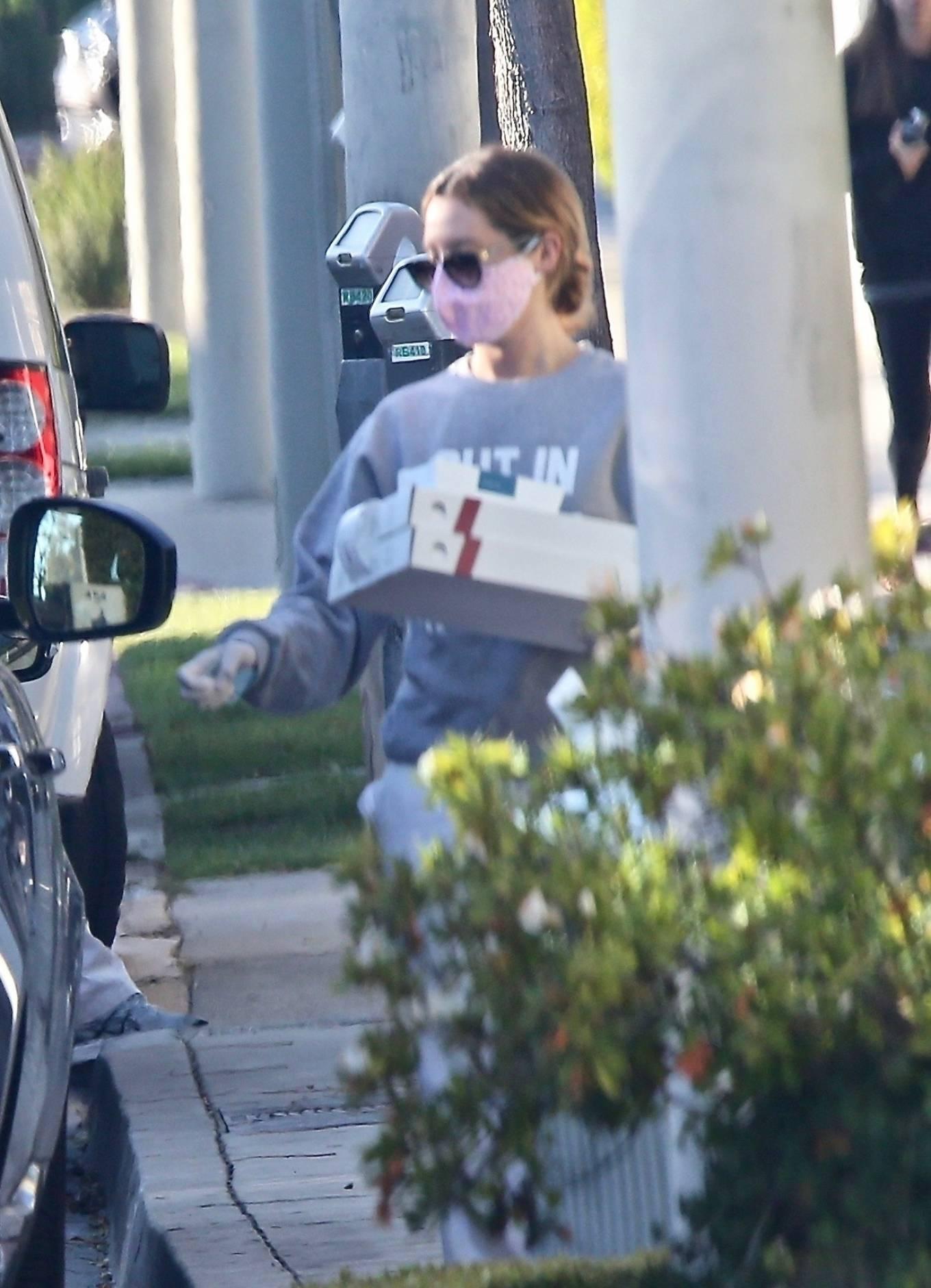 Ashley Tisdale 2020 : Ashley Tisdale – Picks up dinner-06