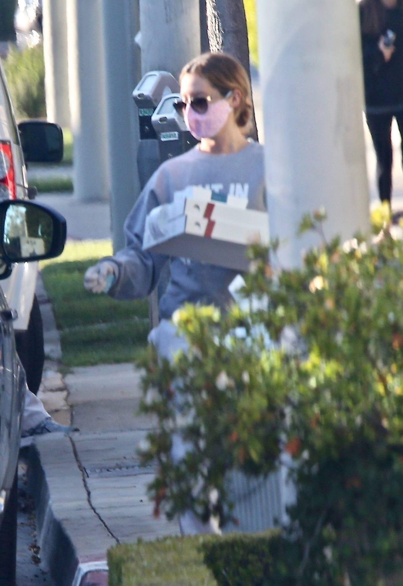 Ashley Tisdale 2020 : Ashley Tisdale – Picks up dinner-07