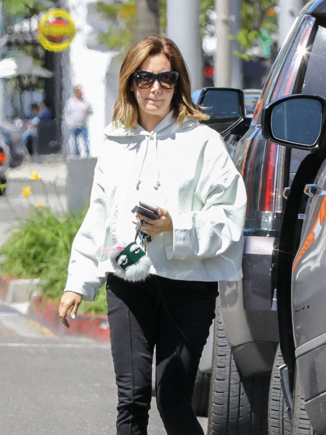 Ashley Tisdale - Running errands in Studio City