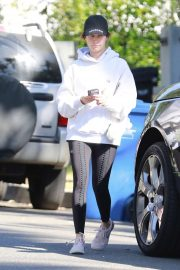 Ashley Tisdale - Seen as she exits a house in Los Angeles