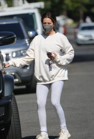 Ashley Tisdale - Seen leaving the gym in West Hollywood