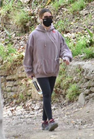 Ashley Tisdale - Seen on a hike in Los Feliz