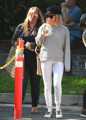 Ashley Tisdale - Shopping at a farmer's market in Los Angeles