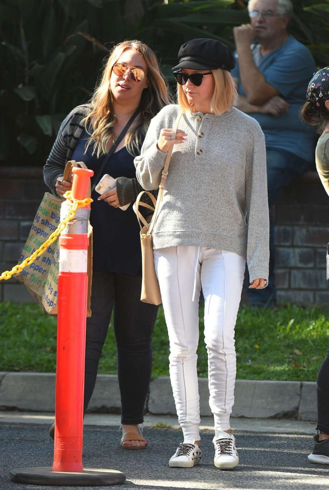Ashley Tisdale – Shopping at a farmer's market in Los Angeles