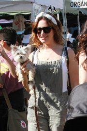 Ashley Tisdale - Shopping at the local farmers market in Los Angeles