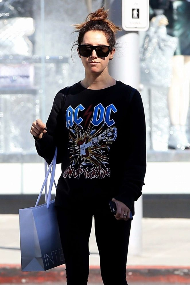 Ashley Tisdale - Shopping in Beverly Hills
