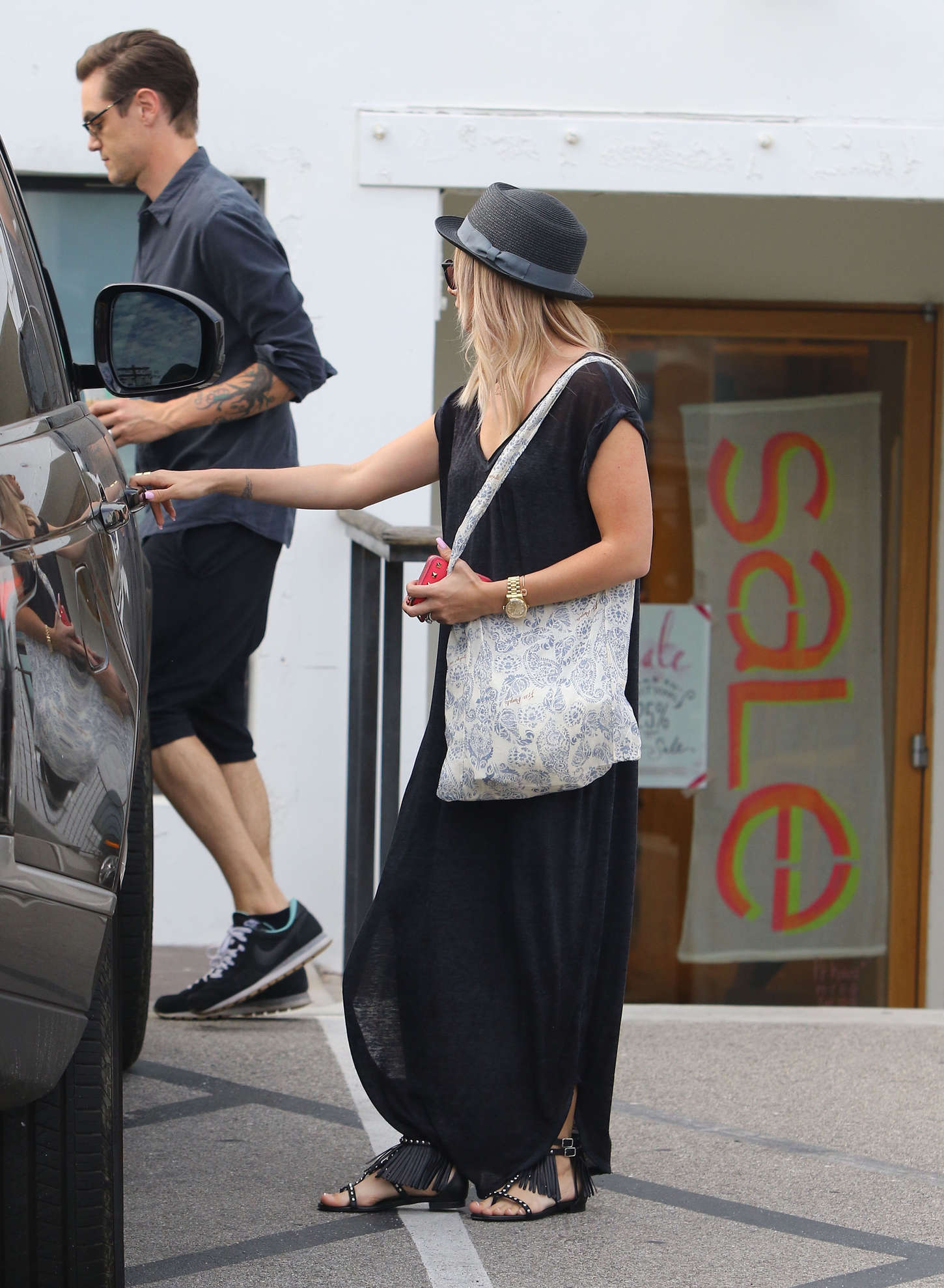 Ashley Tisdale 2015 : Ashley Tisdale in Long Dress -01