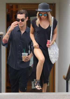 Ashley Tisdale in Long Dress Shopping in Studio City