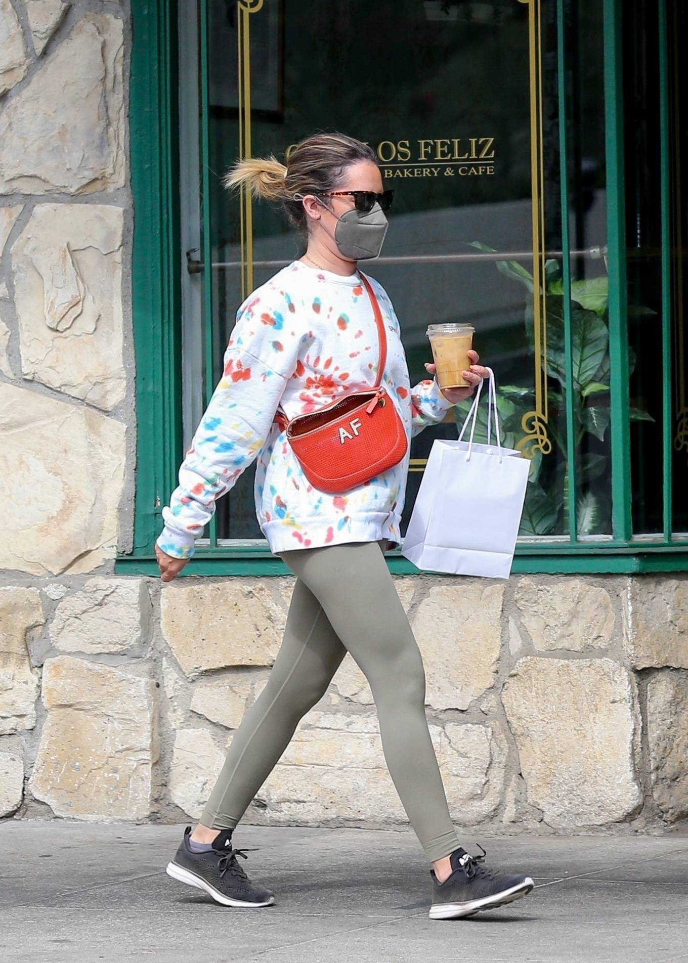 Ashley Tisdale - Stops at Maru Coffee in Los Angeles