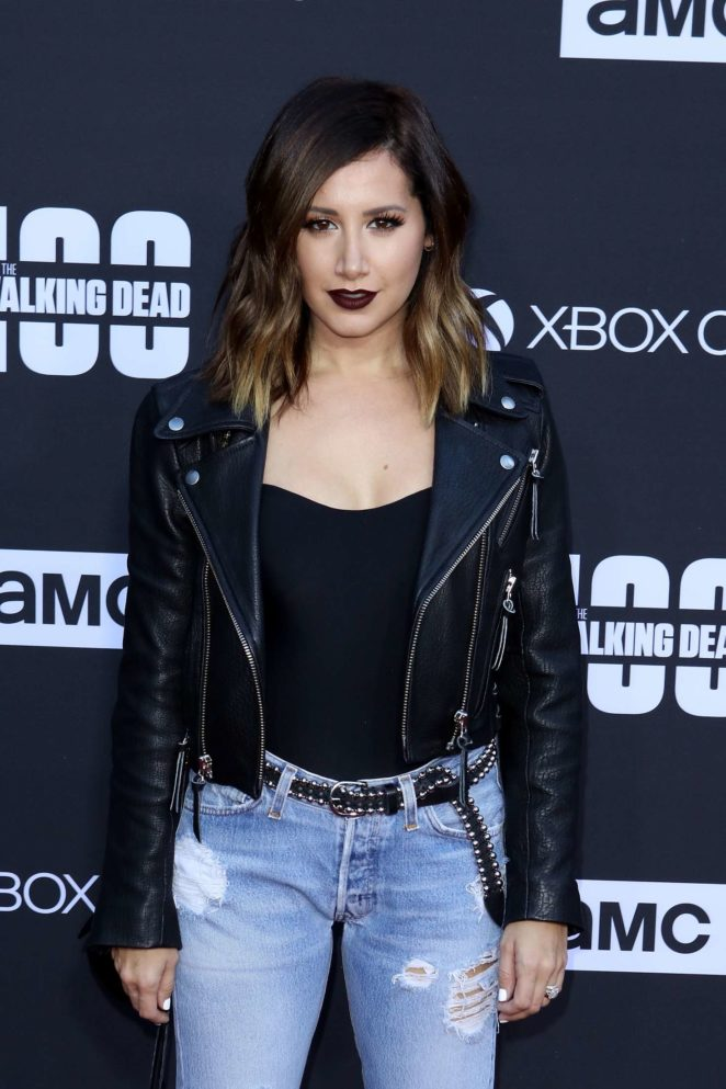 Ashley Tisdale - 'The Walking Dead' 100th Episode Premiere and Party in LA