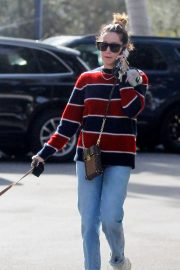 Ashley Tisdale - Walking her dog in Bel Air