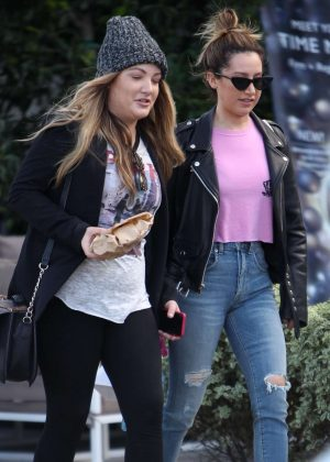 Ashley Tisdale with a friend out in Venice